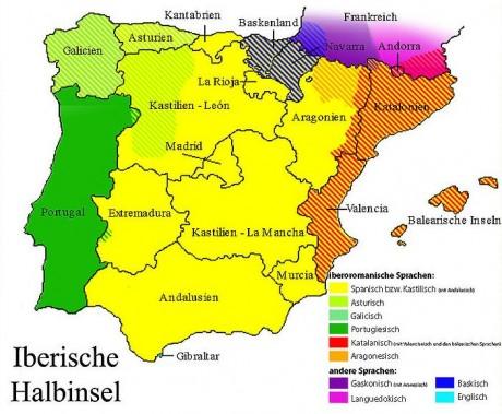 Spanien Regionen Karte.Regionen In Spanien Spanien Urlauber Com
